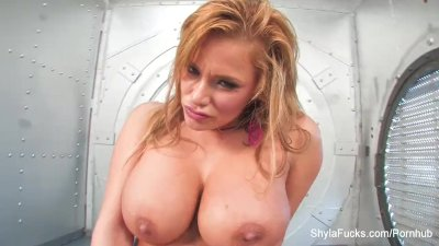 Sexy Shyla toys her pussy in a vault