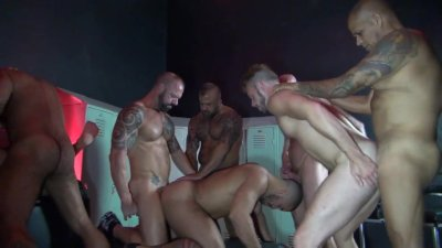 raw orgy in a sex club