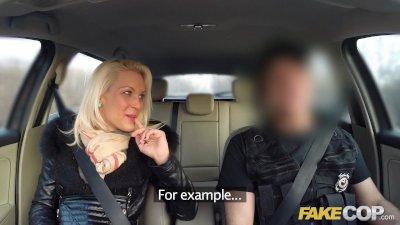 Fake Cop Policemans cock gives blonde multiple orgasms