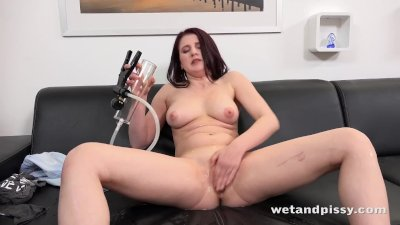 WetAndPissy - Mag Ray gets drenched in pee in solo pissing scene