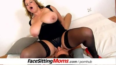 Big tits mature using a boy for facesitting feat. Silvy Vee