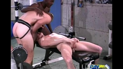 Intense Threesome At the Gym