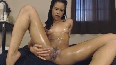 Oiled Up Black Teen