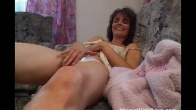 Brunette Mom Gives A Masturbation Private Show