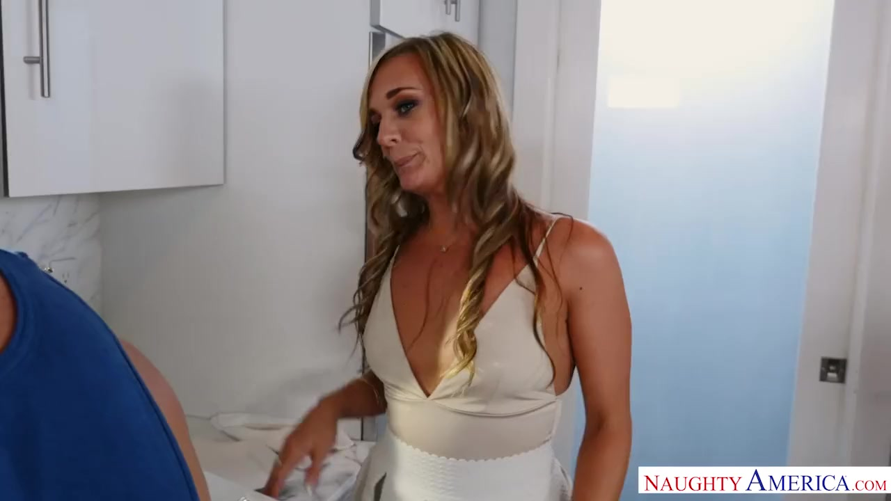 Preview 4 of Blonde Milf Punishes Her Son's Friend The Way He Needs - Naughty America