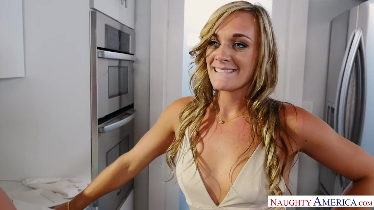 Preview 6 of Blonde Milf Punishes Her Son's Friend The Way He Needs - Naughty America