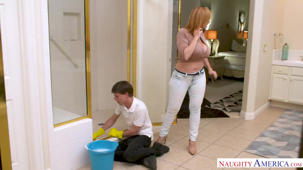 Preview 1 of Milf Sara Jay Punishes Her Son's Friend With Her Pussy!