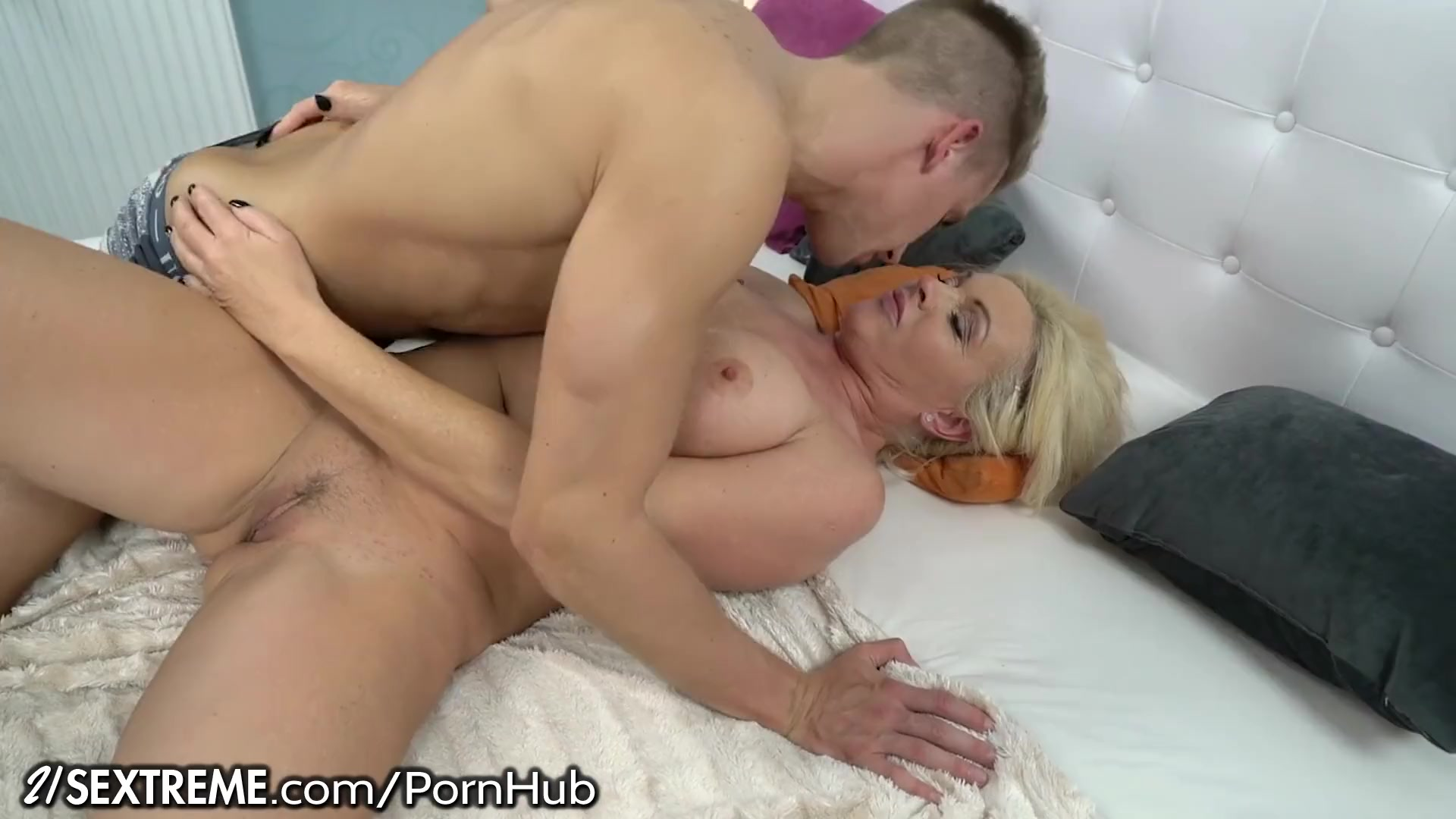 Preview 1 of Stunning Mature Rides Young Stud's Cock And Eats Gooey Load