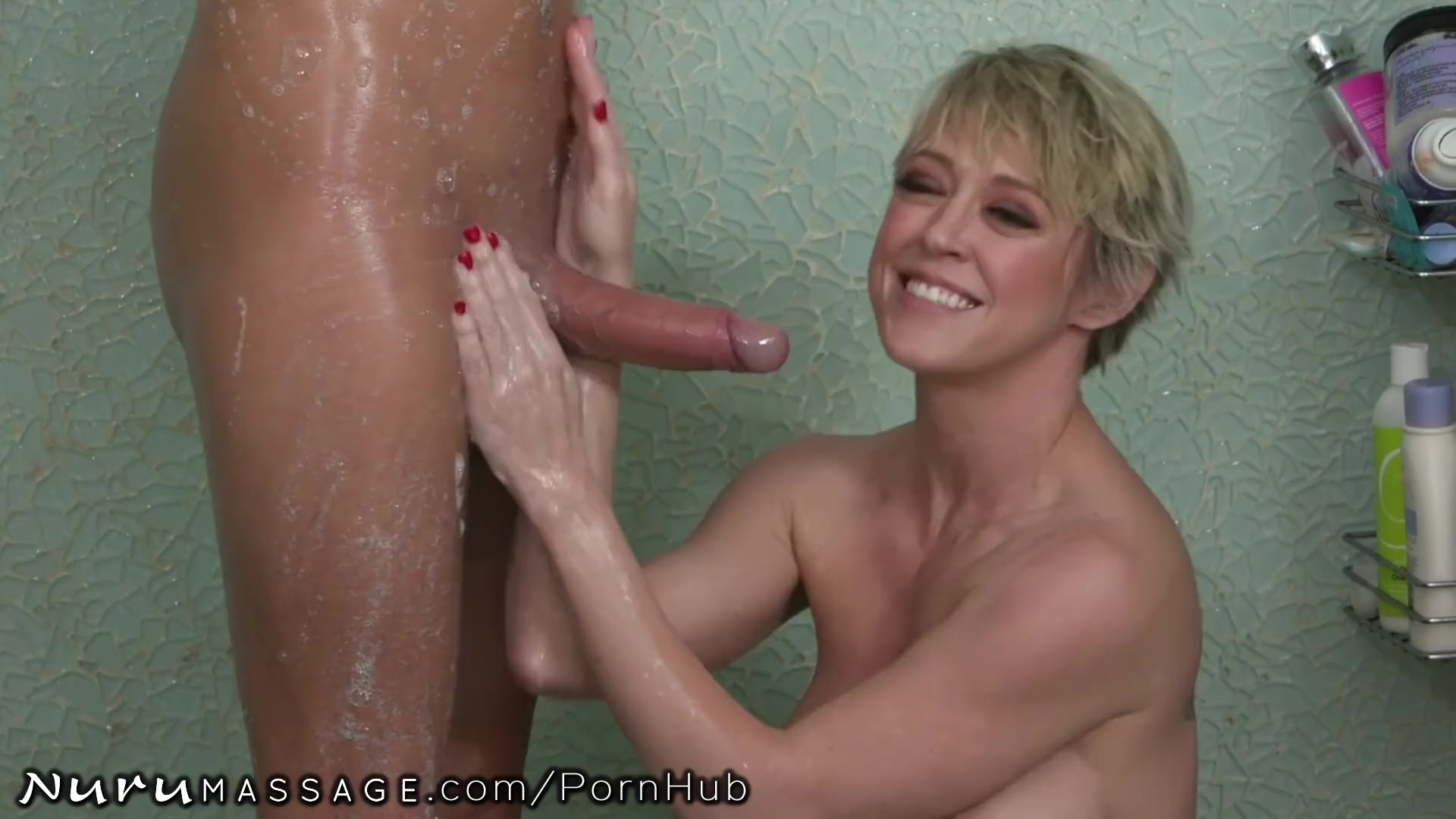 Preview 6 of Mature Mommy Joins In Stepson's Nuru Massage