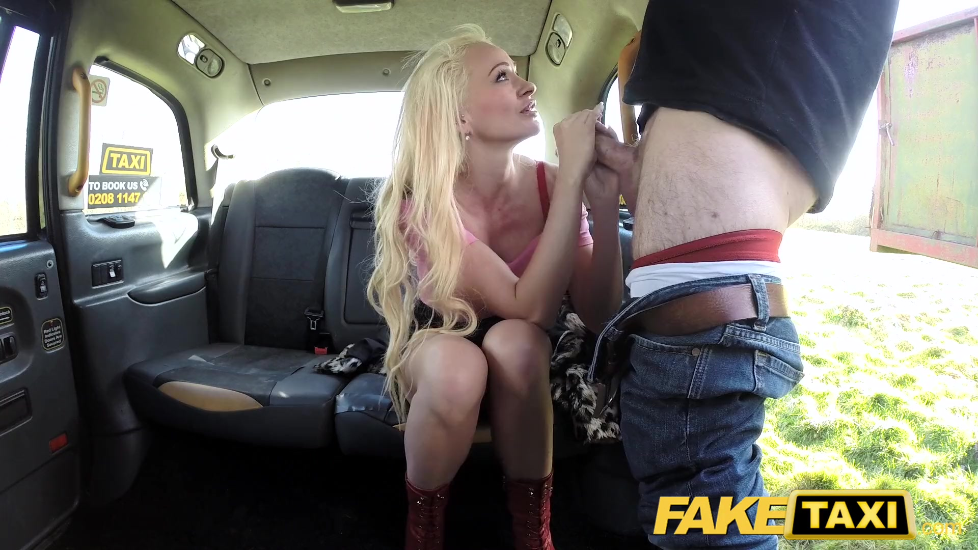 Preview 8 of Fake Taxi Blonde Sexy Bombshell Does Backseat Anal Sex