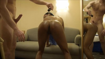 Perfect Ebony Teen Twerks Big Fat Oily Ass On Tinder Guy\'s Lucky White Dick