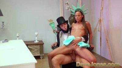 Dane Jones Amirah Adara Statue of Liberty cosplay banged on 4th of July