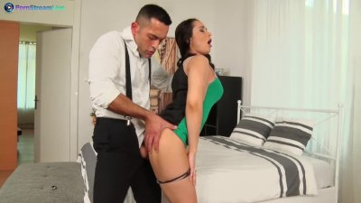 Nasty chick Aurelly Rebel getting screwed hard after party