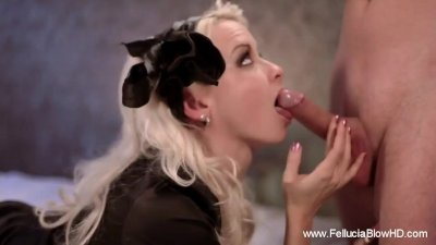 She Mourns While Sucking Cock