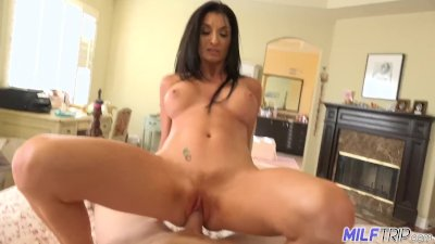 MILF Trip - MILF with killer body and fake tits takes facial