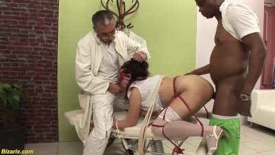 her first bdsm interracial threesome sex