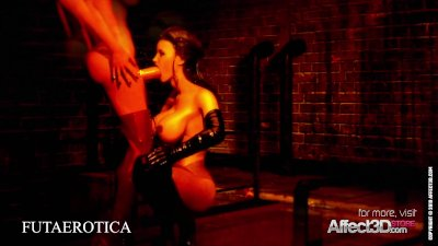 Big tits futa sex in the dark passage