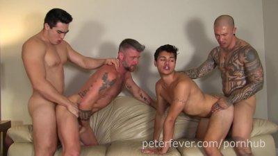 anal Orgy: Axel Kane, Jason Wolf, Damian Dragon, Christian Matthews