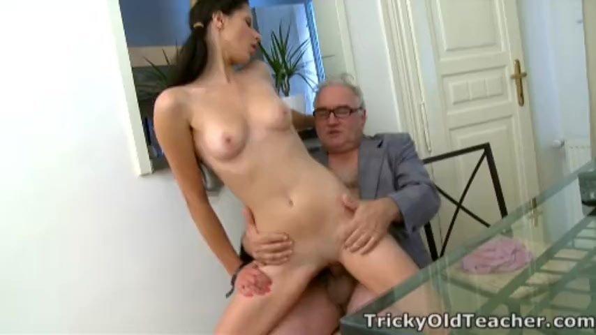 Tricky Old Teacher - Simona's first time blowjob