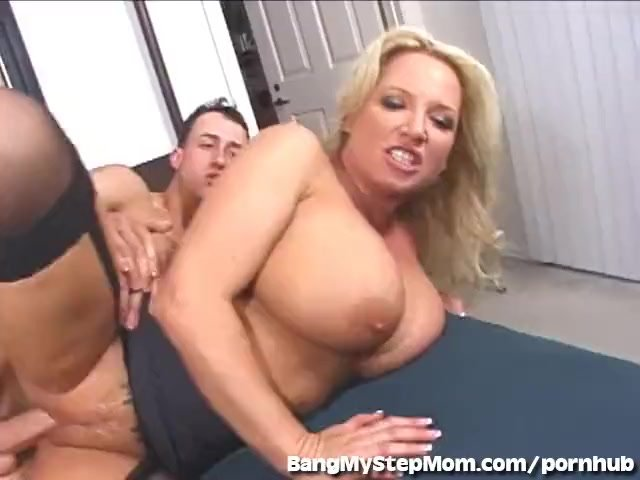 Big boobs/sex/with wife busty cheats stepson
