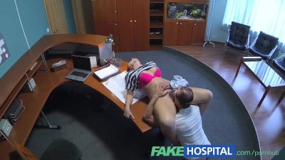 Fake Hospital Cute pigtailed cleaner sucks and fucks doctors big cock