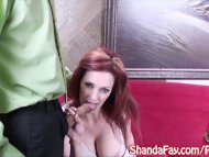 Sexy Hooter's Girl Shanda Fay Sucks For a Big Tip!
