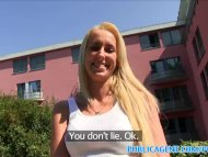 PublicAgent Slim blonde cheats on hubby for cash outside