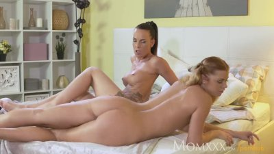 MOM Lesbian Mom seduces friend's young teen daughter home alone