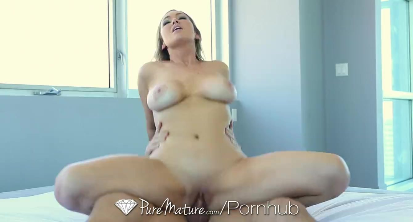 PureMature - Delivery guy Abbey Brooks is welcomed by big breasted milf