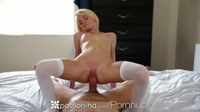 Passion-HD - Blondie Sammie Daniels uses toys to get ready for dick
