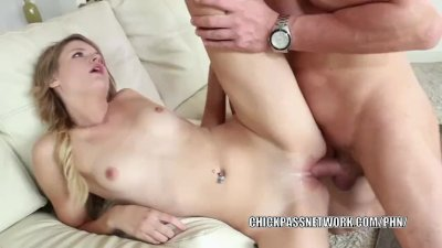 Teen cutie Scarlett Fever takes dick and gets a big facial
