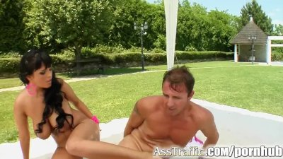 Ass Traffic Big titted Jasmine is screwed in the ass and sperm shot