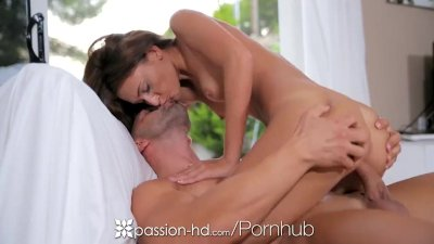 Passion-HD - Brunette Alexis Brill gets off with vibrator before fuck