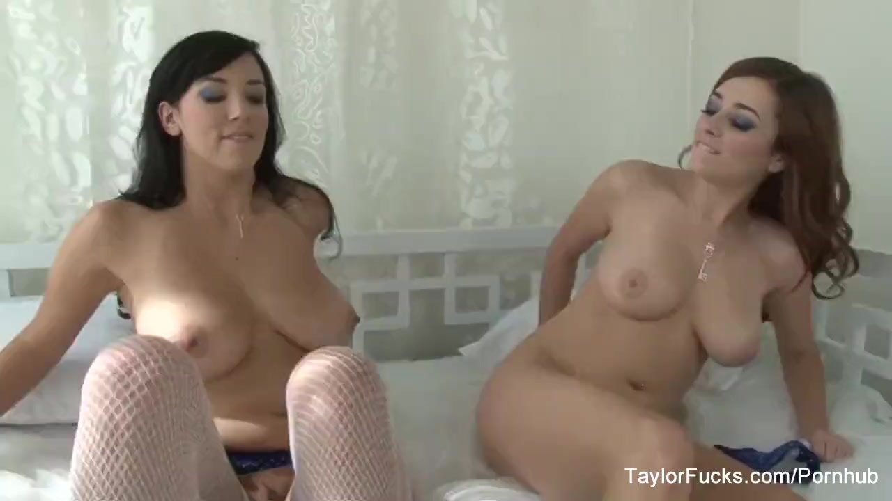 Naturally busty Taylor and Jelena love to play with toys