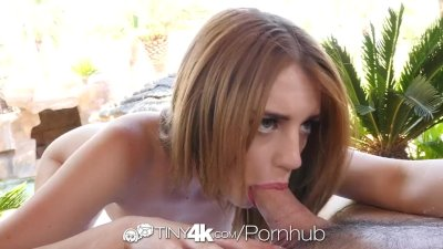 : Tiny4K - All American Blake Eden takes a creampie on 4th of July