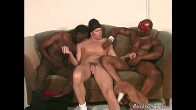 White thug gets assfucked by black men