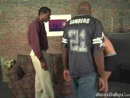 Hung black men sharing the ass of an amateur guy