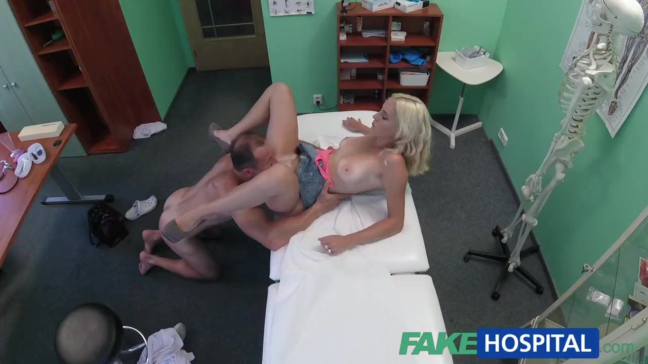 FakeHospital Skinny blonde patient caught playing with her pussy toy