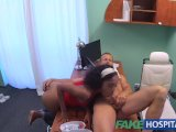 fakehospital tight ebony pussy gets 2 cum loads from doctors fat cockxxx sex hd