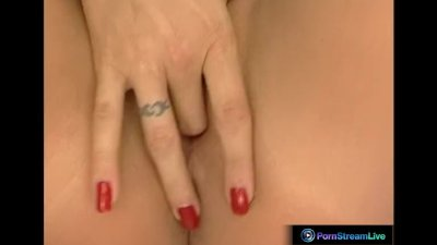 Exotic beauty Ginger Jones uses her fingers and anal beads for her orgasm