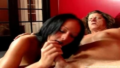 Sister gives bro blowjob