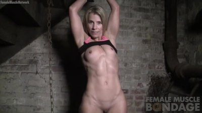 mature Blonde Restrained and Groped in Dungeon