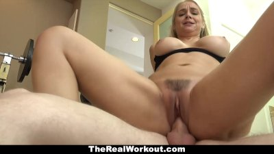 TeamSkeet - Fitness Trainer MILF Fucks Client For Free
