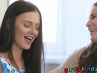 Girlfriends Brunette besties erotic audition