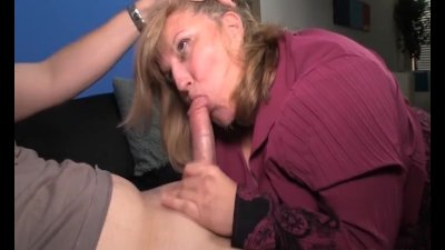 Busty lady blowjob and tit-fucking