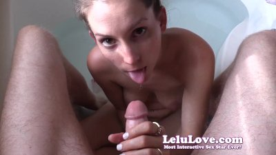 Sucking YOUR cock in the bathtub until you cum all over my face...