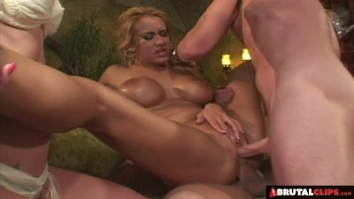 BrutalClips - 2 Cocks in Her Tight Ass