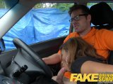 fake driving school young ebony learner enjoys creampie for free lessonsPorn Videos