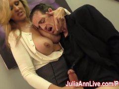 Sexy Milf Julia Ann Milks Him On Date Night