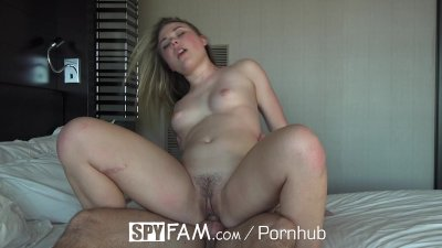 SpyFam Step sister Alyssa Cole begs for some step brother cock